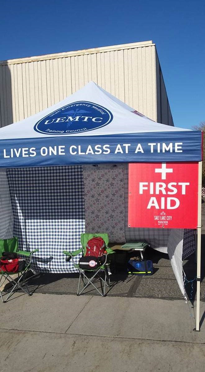 Salt Lake City Marathon 2016 First Aid Standby Stations